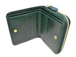 Patine2(パティーヌ2) ラウンドファスナー二つ折り財布 「プレリーギンザ」 NP78220 グリーン 内作り