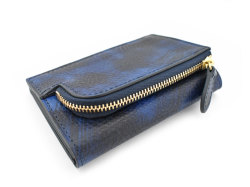 Patine2(パティーヌ2) コンパクト二つ折り財布 「プレリーギンザ」 NP78312 ブルー 裏面