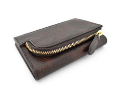 Patine2(パティーヌ2) コンパクト二つ折り財布 「プレリーギンザ」 NP78312 チョコ 裏面