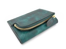 Patine2(パティーヌ2) コンパクト二つ折り財布 「プレリーギンザ」 NP78312 グリーン 裏面