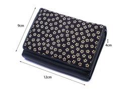 印伝 二つ折り財布(小銭入れあり) 「ル・プレリー 」  NPE4210 サイズ