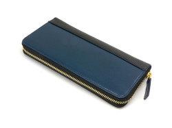 Favor(フェイヴァー) ラウンドファスナー長財布 「プレリートラディショナルファクトリー」 NPF6013 ブルー 正面