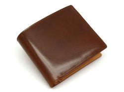 JUWEL Cordovan(ジュエルコードバン)  二つ折り財布(小銭入れあり) 「ジュエル」 NPJ1135 チョコ 正面