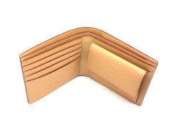 JUWEL Cordovan(ジュエルコードバン)  二つ折り財布(小銭入れあり) 「ジュエル」 NPJ1135 チョコ 内作り