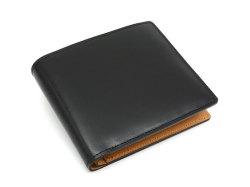 JUWEL Cordovan(ジュエルコードバン)  二つ折り財布(小銭入れなし) 「ジュエル」 NPJ1233 クロ 正面