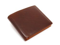 JUWEL Cordovan(ジュエルコードバン)  二つ折り財布(小銭入れなし) 「ジュエル」 NPJ1233 チョコ 正面