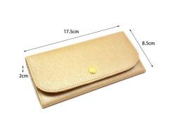 Bijue(ビジュー) コンパクト長財布(小銭入れあり) 「ル・プレリー 」 NPL1195 サイズ
