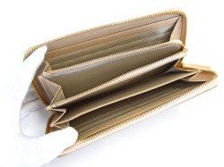 Bijue(ビジュー) ラウンドファスナー長財布 「ル・プレリー 」 NPL1413 ベージュ 内作り2