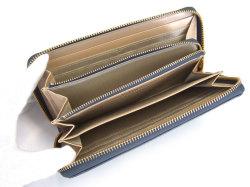 Bijue(ビジュー) ラウンドファスナー長財布 「ル・プレリー 」 NPL1413 ネイビー 内作り2