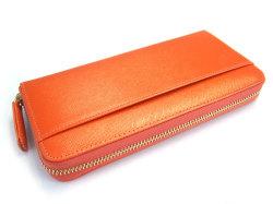 Bijue(ビジュー) ラウンドファスナー長財布 「ル・プレリー 」 NPL1413 オレンジ 裏面