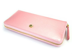 Bijue(ビジュー) ラウンドファスナー長財布 「ル・プレリー 」 NPL1413 ピンク 正面
