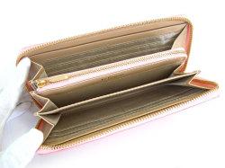 Bijue(ビジュー) ラウンドファスナー長財布 「ル・プレリー 」 NPL1413 ピンク 内作り