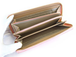 Bijue(ビジュー) ラウンドファスナー長財布 「ル・プレリー 」 NPL1413 ピンク 内作り2