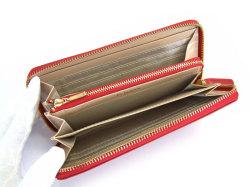 Bijue(ビジュー) ラウンドファスナー長財布 「ル・プレリー 」 NPL1413 アカ 内作り
