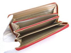 Bijue(ビジュー) ラウンドファスナー長財布 「ル・プレリー 」 NPL1413 アカ 内作り2