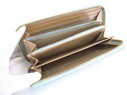 Bijue(ビジュー) ラウンドファスナー長財布 「ル・プレリー 」 NPL1413 サックス 内作り2