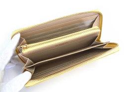 Bijue(ビジュー) ラウンドファスナー長財布 「ル・プレリー 」 NPL1413 イエロー 内作り