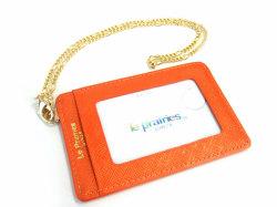 Bijue(ビジュー) パスケース(チェーン付き) 「ル・プレリー 」 NPL1545 オレンジ 裏面