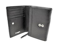 Sheep Mesh(シープメッシュ) 二つ折り財布(小銭入れあり) 「ル・プレリーギンザ 」 NPL2210 クロ 内作り