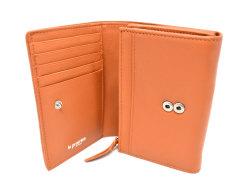 Sheep Mesh(シープメッシュ) 二つ折り財布(小銭入れあり) 「ル・プレリーギンザ 」 NPL2210 キャメル 内作り