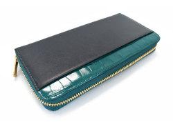 Fascino(ファッシノ) ラウンドファスナー長財布 「ル・プレリーギンザ 」 NPL3114 グリーン 裏面