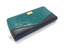 Fascino(ファッシノ) ラウンドファスナー長財布 「ル・プレリーギンザ 」 NPL3114 グリーン 正面