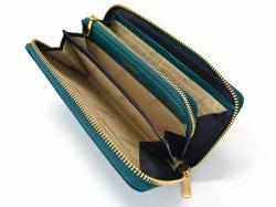 Fascino(ファッシノ) ラウンドファスナー長財布 「ル・プレリーギンザ 」 NPL3114 グリーン 内作り