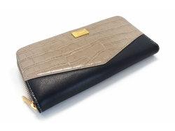 Fascino(ファッシノ) ラウンドファスナー長財布 「ル・プレリーギンザ 」 NPL3114 グレー 正面