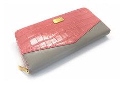 Fascino(ファッシノ) ラウンドファスナー長財布 「ル・プレリーギンザ 」 NPL3114 ピンク 正面
