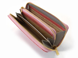 Fascino(ファッシノ) ラウンドファスナー長財布 「ル・プレリーギンザ 」 NPL3114 ピンク 内作り