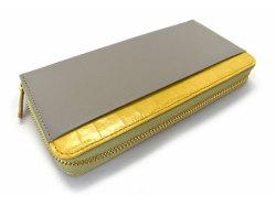 Fascino(ファッシノ) ラウンドファスナー長財布 「ル・プレリーギンザ 」 NPL3114 イエロー 裏面