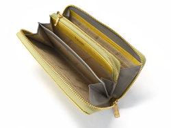 Fascino(ファッシノ) ラウンドファスナー長財布 「ル・プレリーギンザ 」 NPL3114 イエロー 内作り