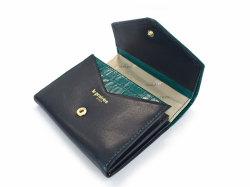 Fascino(ファッシノ) 二つ折り財布(小銭入れあり) 「ル・プレリーギンザ 」 NPL3213 グリーン 内作り