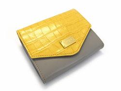 Fascino(ファッシノ) 二つ折り財布(小銭入れあり) 「ル・プレリーギンザ 」 NPL3213 イエロー 正面