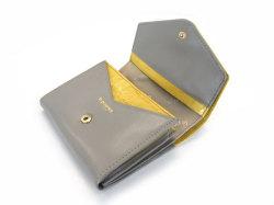 Fascino(ファッシノ) 二つ折り財布(小銭入れあり) 「ル・プレリーギンザ 」 NPL3213 イエロー 内作り