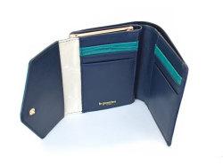 Fascino(ファッシノ) がま口二つ折り財布(小銭入れあり) 「ル・プレリーギンザ 」 NPL3314 グリーン 内作り