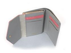 Fascino(ファッシノ) がま口二つ折り財布(小銭入れあり) 「ル・プレリーギンザ 」 NPL3314 ピンク 内作り