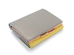 Fascino(ファッシノ) がま口二つ折り財布(小銭入れあり) 「ル・プレリーギンザ 」 NPL3314 イエロー 裏面