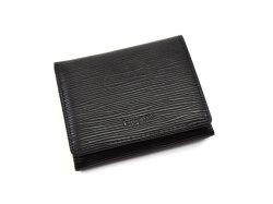 Refined(リファイン) 二つ折り財布 (小銭入あり)「ル・プレリーギンザ」 NPL5410 抗菌・抗ウイルス クレンゼ使用 ブラック 正面
