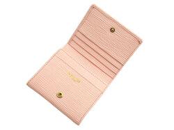 Refined(リファイン) 二つ折り財布 (小銭入あり)「ル・プレリーギンザ」 NPL5410 抗菌・抗ウイルス クレンゼ使用 ピンク 内作り