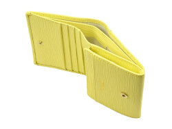 Refined(リファイン) 二つ折り財布 (小銭入あり)「ル・プレリーギンザ」 NPL5410 抗菌・抗ウイルス クレンゼ使用 イエロー 内作り