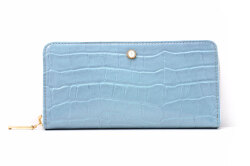 COCCO(コッコ) ラウンドファスナー長財布 「ル・プレリーギンザ 」 NPL9114 ブルー 正面