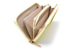 COCCO(コッコ) ラウンドファスナー長財布 「ル・プレリーギンザ 」 NPL9114 イエロー 内作り