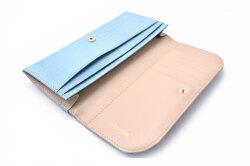 COCCO(コッコ) 薄型長財布 「ル・プレリーギンザ 」 NPL9212 ブルー 内作り