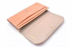 COCCO(コッコ) 薄型長財布 「ル・プレリーギンザ 」 NPL9212 オレンジ 内作り