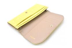 COCCO(コッコ) 薄型長財布 「ル・プレリーギンザ 」 NPL9212 イエロー 内作り