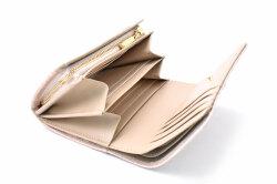 COCCO(コッコ) 二つ折り財布(小銭入れあり) 「ル・プレリーギンザ 」 NPL9313 ベージュ 内作り
