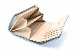 COCCO(コッコ) 二つ折り財布(小銭入れあり) 「ル・プレリーギンザ 」 NPL9313 ブルー 内作り