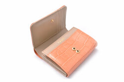 COCCO(コッコ) 二つ折り財布(小銭入れあり) 「ル・プレリーギンザ 」 NPL9313 オレンジ 内作り