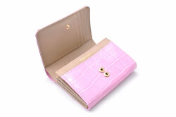 COCCO(コッコ) 二つ折り財布(小銭入れあり) 「ル・プレリーギンザ 」 NPL9313 ピンク 内作り